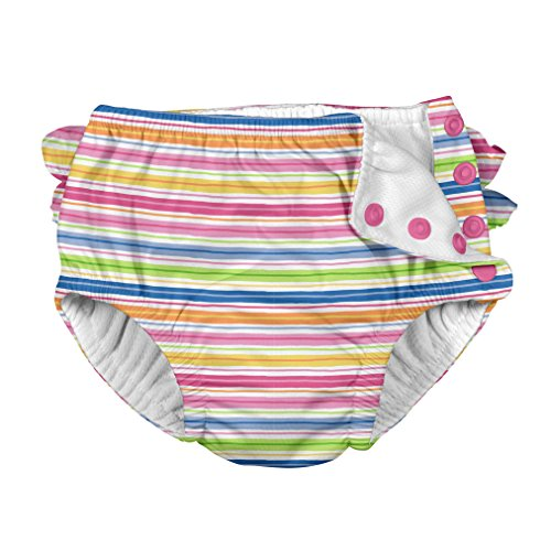 Large Product Image of i play. Ruffle Snap Reusable Absorbent Swimsuit Diaper