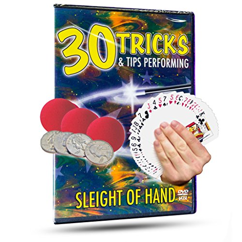 Magic Makers 30 Tricks & Tips Performing Sleight of Hand Magic Training - Coin Hand Of Tricks Sleight