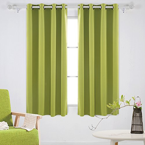 Deconovo Solid Color Grommet Blackout Curtains Room