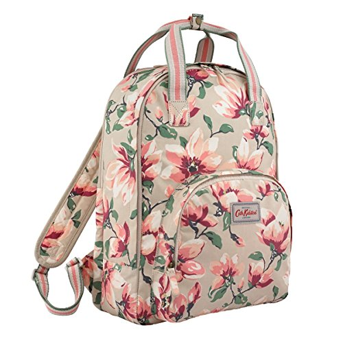"Cath Kidston Matt Oilcloth Multi Pocket Backpack Magnolia Color Stone 17SS Fitting 13"" Laptop Rucksack"