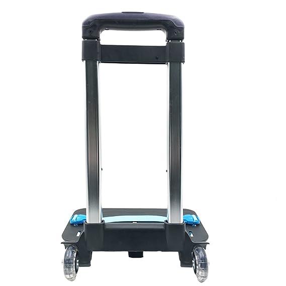 Trolley para Mochila - Carro Plegable de la Carretilla de la aleación de Aluminio de la Carretilla con Ruedas para la Mochila (Azul, 2 Ruedas): Amazon.es: ...