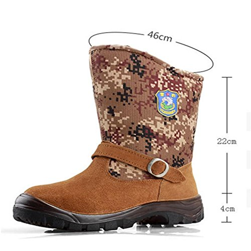 Stivali impermeabile da Parte neve 44 Alta Antiscivolo Stivali Invernali Caldo brown All'aperto 41 amp;XYUomo digital W qxYwzCvSv