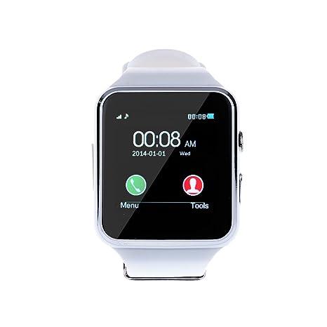 Levipower®X6+ Smartwatch Pulsera NFC Con Pantalla Cámara Táctil para IOS Android Soporta SMI/TF (Blanco)