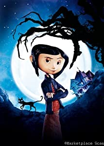 amazoncom coraline movie poster 24x36in textless