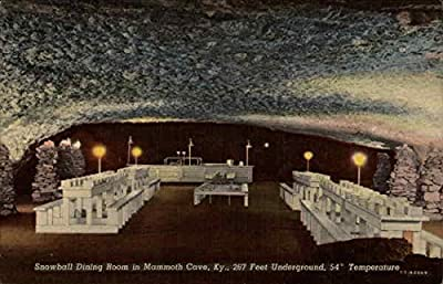 Snowball Dining Room in Mammoth Cave Mammoth Cave, Kentucky Original Vintage Postcard