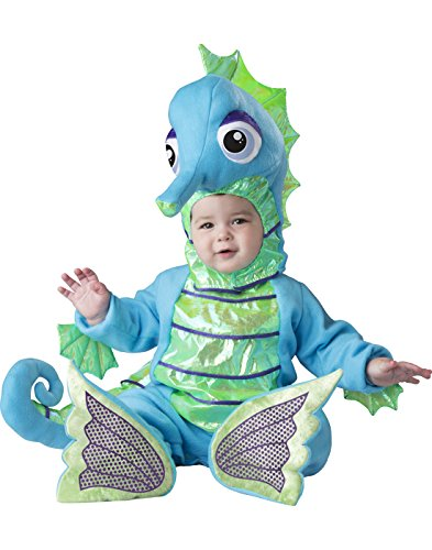 Fun World Baby Toddler Kids Silly Seahorse, Multi, (Seahorse Costume Baby)