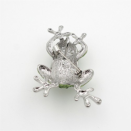 Crystal Rhinestone Synthetic Emerald Golden Frog Fashion Jewelry Pin Brooch for Christmas Gift by LOVFASHION (Image #7)