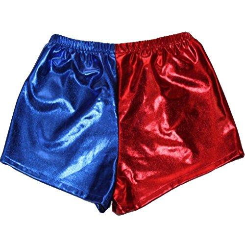 Cercur Women's Cosplay Blue Red Shorts Panties Jackety Neckalce]()
