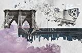 New York City / Brooklyn Bridge / Wall Art / Photography / Skyline / City / Highline / Graffiti / Downtown / Modern Design