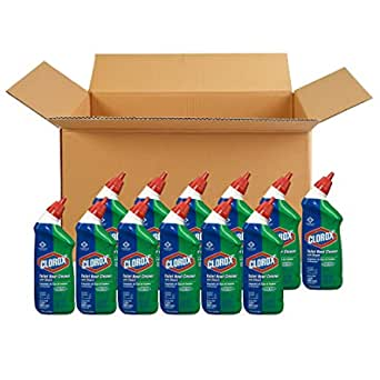 Clorox Toilet Bowl Cleaner with Bleach, Fresh Scent - 24 Ounces, 12 Bottles/Case (00031)