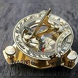 Latón bolsillo Reloj Brújula w/tapa ~ acabado antiguo ~ Nautical Marítima