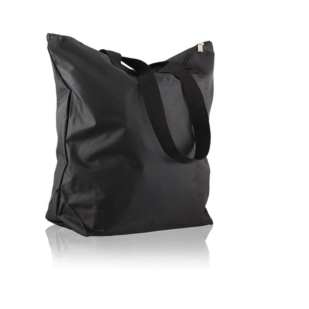 Waterproof Lightweight 15.7'' Travel Luggage Totes Beach Bag Small Weekend Duffel Bag Multicolor (Black)
