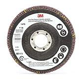 3M Flap Disc 747D, T27, 4-1/2 in x 7/8 in, 60