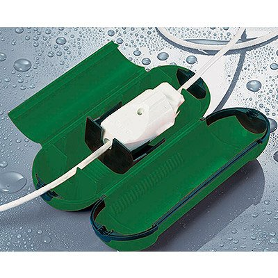 Hot Headz Extension Cord Safety Seal Water Resistant Cord Cover, 8.25 x 3 x 3-Inch, Green by Hot Headz