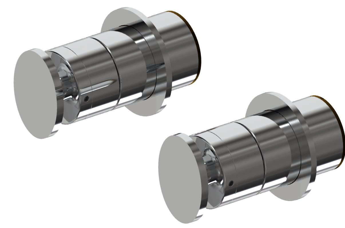 IB rubinetterie ducha integrado dos agujeros, cromo