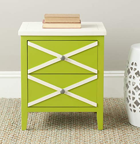 Safavieh American Homes Collection Sherrilyn Lime Green 2-Drawer Side Table