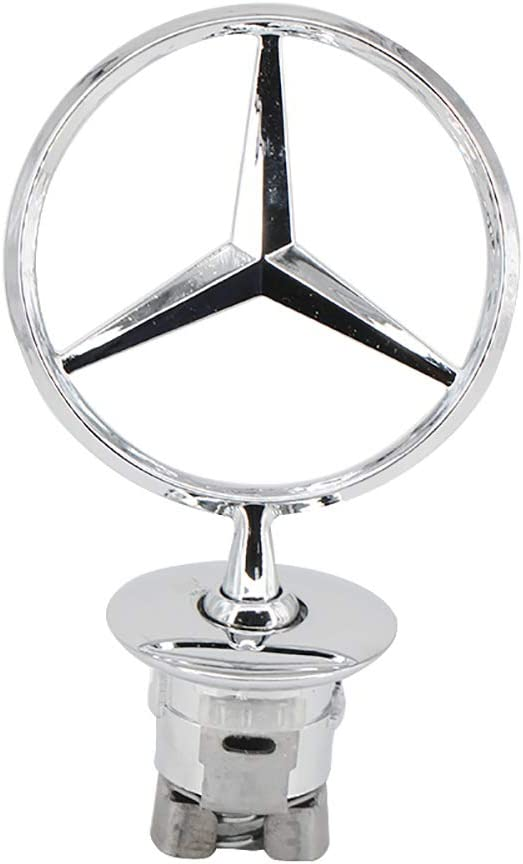 Hood Star Decal Emblem,3D Chrome Star Metal Front Hood LOGO Emblem Badge Car Cover for Mercedes Benz C//E//S-class Wheat Ears