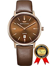 BRIGADA Swiss Watches Business Quartz Minimalist Watch for Men