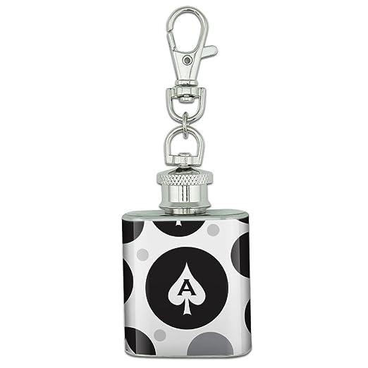 Amazon.com: Cadena de acero inoxidable 1oz Mini Flask Key ...