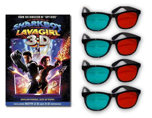The Adventures of Sharkboy and Lavagirl 3D DVD and Glasses Deluxe Pack ()