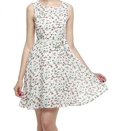 Buy belted chiffon print dress - 9