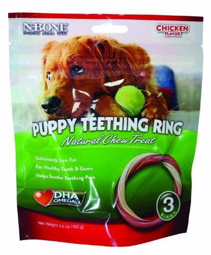 N-Bone 3-Pack Puppy Teething Ring, Chicken Flavor, My Pet Supplies