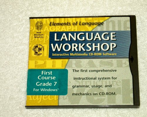 Elements of Language: Language Workshop Interactive Multimedia CD-ROM Software First Course Grade 7