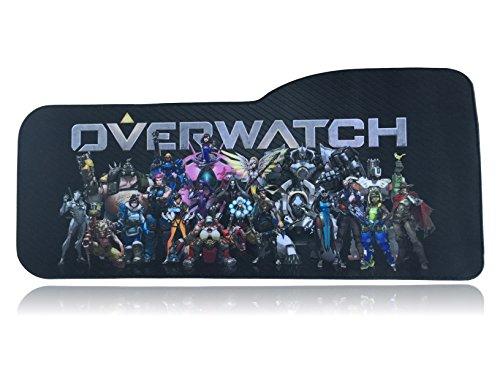 Overwatch Extended Size Custom Professional Gaming Mouse Pad - Anti Slip Rubber Base - Stitched Edges - Large Desk Mat - 28.5