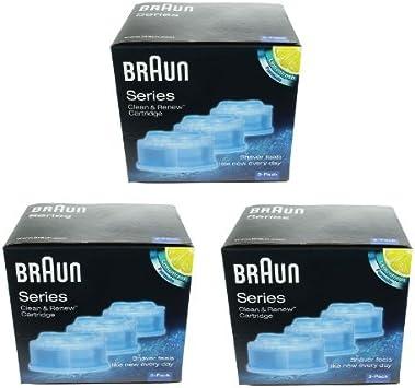 Braun Clean & Renew - Cartuchos de recambio para afeitadora (3 ...