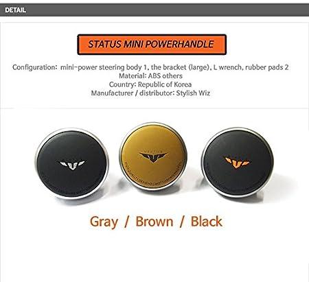 Black GotoShop Mini Power Handle Steering Wheel Spinner Knob for All Car