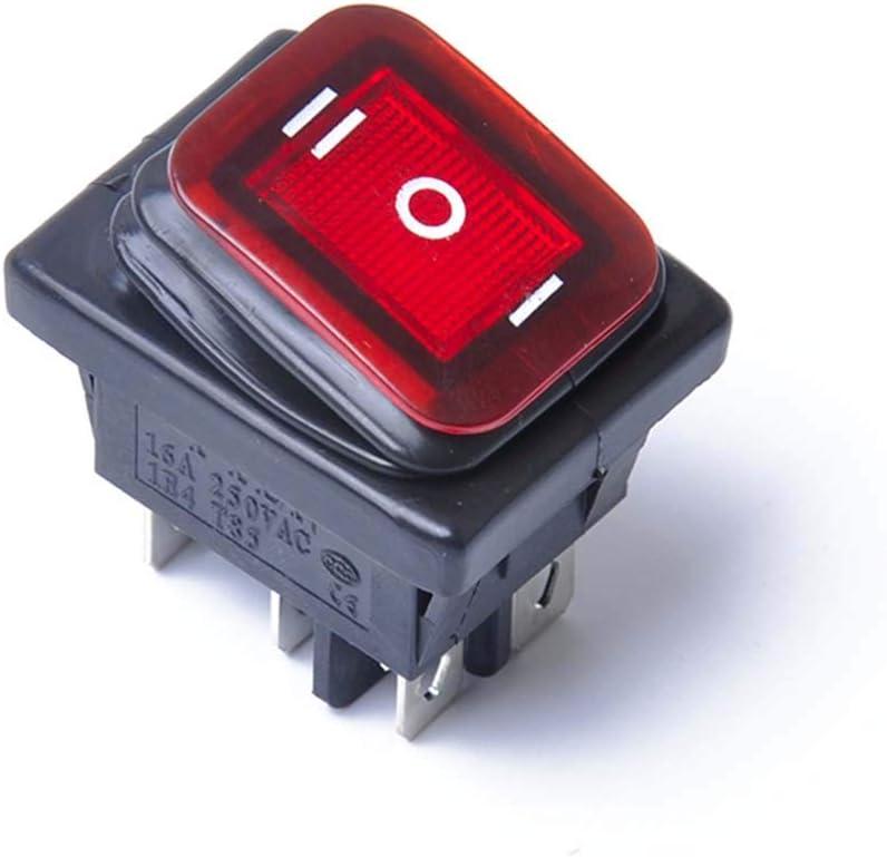 Kylewo Interruttore a bilanciere a 3 Posizioni On-off-A a 3 Pin Interruttore Automatico del Sistema Elettrico