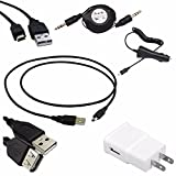 ReadyPlug Accessory Bundle for: SteelSeries Siberia 800 Headphones USB Data/Charger/3.5mm Audio Discount Multi Pack
