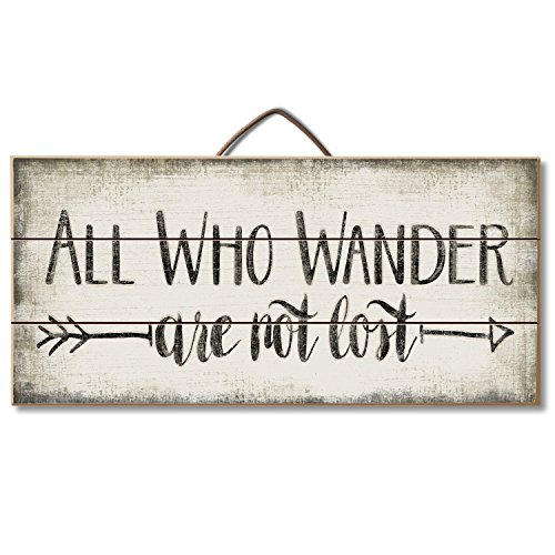Highland Woodcrafters All Who Wander Are Not Lost Reclaimed Wood Pallet Sign - Made in USA!