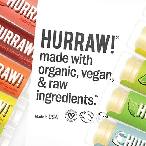 Hurraw Lip Balms, 5 Pack, Buyers Choice, Pick Any 5, Contact Seller and Pick 5 Flavors, 25 Flavors to Choose from