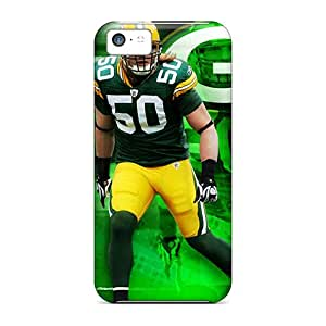 Shock-Absorbing Hard Phone Cover For Iphone 5c With Support Your Personal Customized Lifelike Green Bay Packers Skin KennethKaczmarek