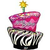 Funky Zebra Birthday Cake Foil Balloon, Health Care Stuffs