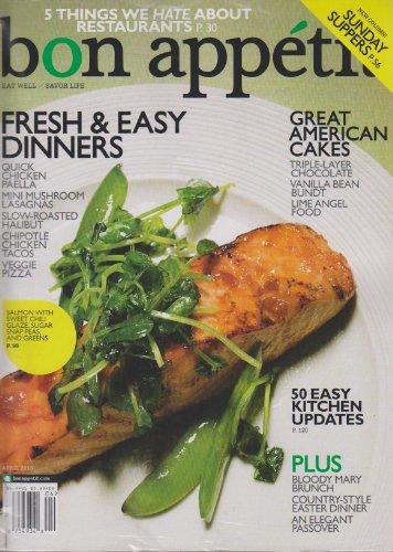 Bon Appetit April 2010 Fresh & Easy Dinners (Chicken Mushroom Lasagna)