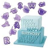 PalkSky 40-Piece Fondant Alphabet Number Cutouts,Cake decorating tools