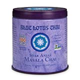 Blue Lotus Chai - Star Anise Flavor Masala Chai - Makes 100 Cups - 3 Ounce Masala Spiced Chai Powder with Organic Spices - Instant Indian Tea No Steeping - No Gluten