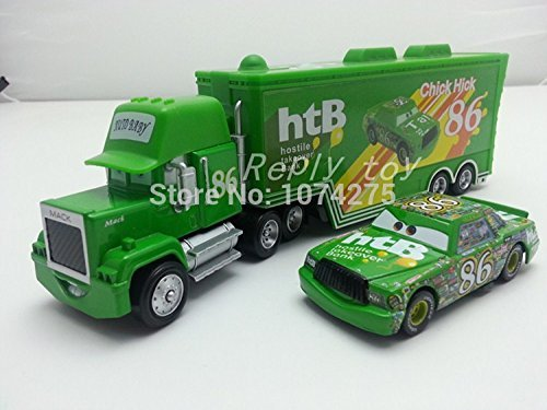Pixar Cars Diecast Mack Uncle & No.86 Chick Hicks Metal Toy Car (Chick Hicks Pixar)
