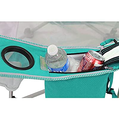 Kijaro Coast Folding Beach Sling Chair with Cooler, Ionian Turquoise: Sports & Outdoors