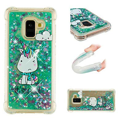 0118475e946fe3 Case for Samsung Galaxy A8 2018 / A8 Plus 2018 Shockproof/Flowing Liquid /Pattern