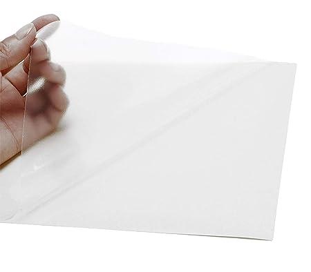 2AINTIMO Hojas Pegatinas película PVC Vinilo A4 Papel Transparente ...
