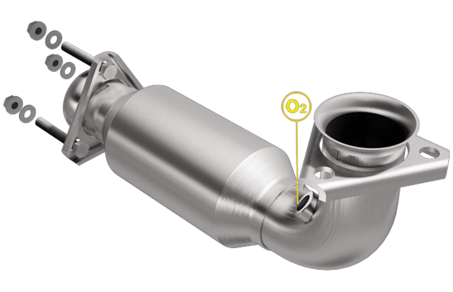 MagnaFlow Exhaust Products 3321409 Direct Fit California Catalytic Converter Main Piping Dia. 2.5 In. Inlet/Outlet