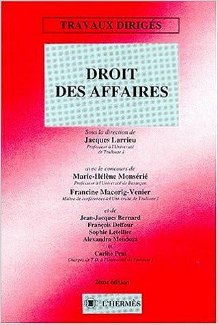Lire en ligne DROIT DES AFFAIRES. Travaux dirigés, 2ème édition epub pdf