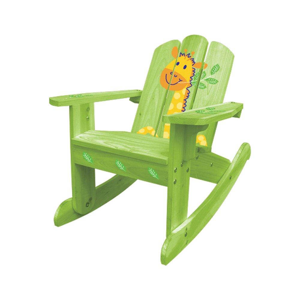 Merveilleux Amazon.com: Lohasrus Kids Rocking Chair, Green Giraffe Silk Screen: Kitchen  U0026 Dining