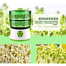 Adoner 110V Bean Sprouts Machine Automatic Intelligence Electronical Seed Sprouts Maker Food Grad PP Material 2 Layers Large Capacity Power-off Memory Function Sprouter