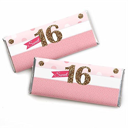 Sweet 16 Birthday Candy Bar - 1