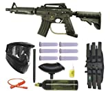 US Army Alpha Black Elite Paintball Marker Gun 3Skull Super Mega Set
