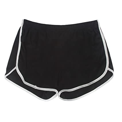 ce8cc3e7c Amazon.com : Yoga Gym Sport Shorts Workout Running Short Pants for Women No  Drawstring Solid Color Dolphin Shorts : Clothing